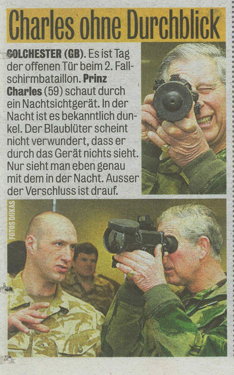 Prinz Charles night vision device