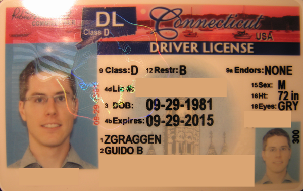 blog.zgraggen.name » Blog Archive » Connecticut Driver license